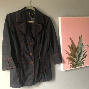 Bisou Bisou Jean Jacket Trench Denim Small